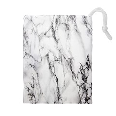 Marble Granite Pattern And Texture Drawstring Pouches (extra Large) by Nexatart
