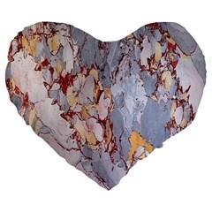 Marble Pattern Large 19  Premium Heart Shape Cushions by Nexatart