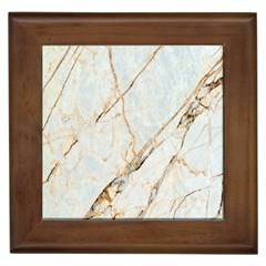Marble Texture White Pattern Surface Effect Framed Tiles by Nexatart
