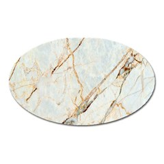 Marble Texture White Pattern Surface Effect Oval Magnet by Nexatart