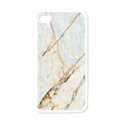 Marble Texture White Pattern Surface Effect Apple Iphone 4 Case (white) by Nexatart