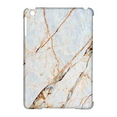 Marble Texture White Pattern Surface Effect Apple Ipad Mini Hardshell Case (compatible With Smart Cover) by Nexatart
