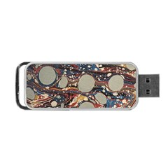 Marbling Portable Usb Flash (one Side) by Nexatart