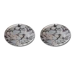 Slate Marble Texture Cufflinks (oval) by Nexatart