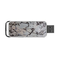Slate Marble Texture Portable Usb Flash (two Sides) by Nexatart