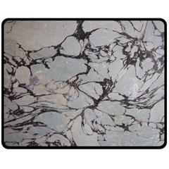 Slate Marble Texture Double Sided Fleece Blanket (medium)  by Nexatart