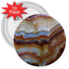 Wall Marble Pattern Texture 3  Buttons (10 Pack)  by Nexatart