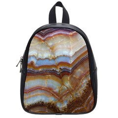 Wall Marble Pattern Texture School Bag (small) by Nexatart