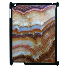 Wall Marble Pattern Texture Apple Ipad 2 Case (black) by Nexatart