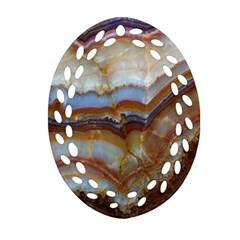 Wall Marble Pattern Texture Oval Filigree Ornament (two Sides) by Nexatart