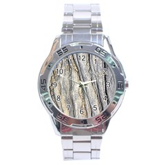 Texture Structure Marble Surface Background Stainless Steel Analogue Watch by Nexatart