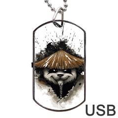 Warrior Panda T Shirt Dog Tag Usb Flash (one Side) by AmeeaDesign