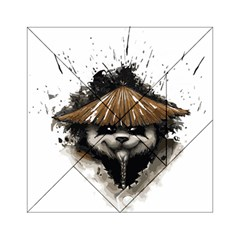 Warrior Panda T Shirt Acrylic Tangram Puzzle (6  X 6 ) by AmeeaDesign