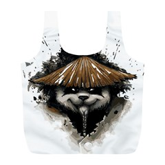 Warrior Panda T Shirt Full Print Recycle Bags (l)  by AmeeaDesign