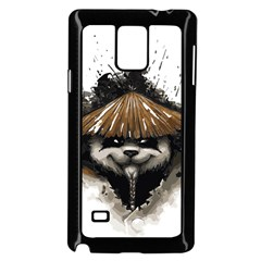 Warrior Panda T Shirt Samsung Galaxy Note 4 Case (black) by AmeeaDesign