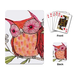 Summer Colourful Owl T Shirt Playing Card by AmeeaDesign