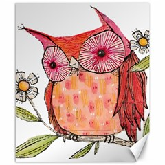 Summer Colourful Owl T Shirt Canvas 8  X 10  by AmeeaDesign