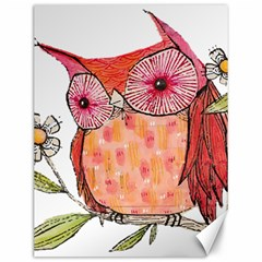 Summer Colourful Owl T Shirt Canvas 12  X 16   by AmeeaDesign