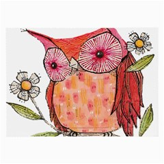 Summer Colourful Owl T Shirt Large Glasses Cloth by AmeeaDesign