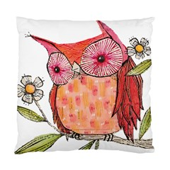 Summer Colourful Owl T Shirt Standard Cushion Case (two Sides) by AmeeaDesign