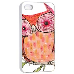 Summer Colourful Owl T Shirt Apple Iphone 4/4s Seamless Case (white) by AmeeaDesign