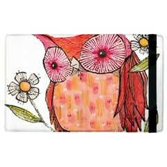 Summer Colourful Owl T Shirt Apple Ipad 3/4 Flip Case by AmeeaDesign