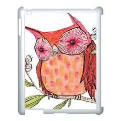 Summer Colourful Owl T Shirt Apple Ipad 3/4 Case (white) by AmeeaDesign