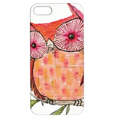 Summer Colourful Owl T Shirt Apple Iphone 5 Hardshell Case With Stand by AmeeaDesign