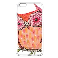 Summer Colourful Owl T Shirt Apple Iphone 6 Plus/6s Plus Enamel White Case by AmeeaDesign