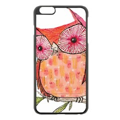 Summer Colourful Owl T Shirt Apple Iphone 6 Plus/6s Plus Black Enamel Case by AmeeaDesign