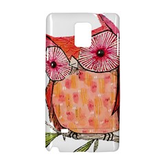 Summer Colourful Owl T Shirt Samsung Galaxy Note 4 Hardshell Case by AmeeaDesign