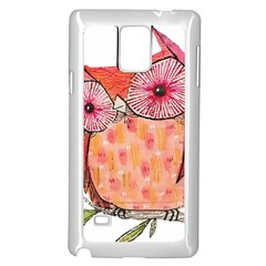 Summer Colourful Owl T Shirt Samsung Galaxy Note 4 Case (white) by AmeeaDesign