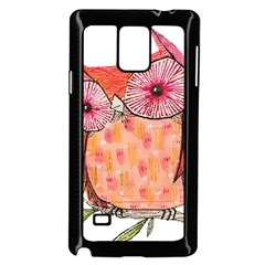 Summer Colourful Owl T Shirt Samsung Galaxy Note 4 Case (black) by AmeeaDesign