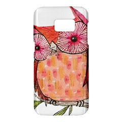 Summer Colourful Owl T Shirt Samsung Galaxy S7 Hardshell Case  by AmeeaDesign