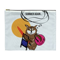 Owl That Hates Summer T Shirt Cosmetic Bag (xl) by AmeeaDesign