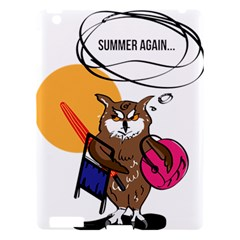 Owl That Hates Summer T Shirt Apple Ipad 3/4 Hardshell Case by AmeeaDesign