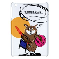 Owl That Hates Summer T Shirt Apple Ipad Mini Hardshell Case by AmeeaDesign