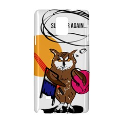 Owl That Hates Summer T Shirt Samsung Galaxy Note 4 Hardshell Case by AmeeaDesign