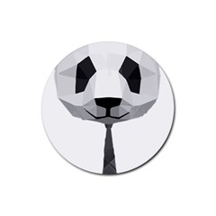 Office Panda T Shirt Rubber Coaster (round)  by AmeeaDesign