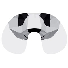 Office Panda T Shirt Travel Neck Pillows by AmeeaDesign