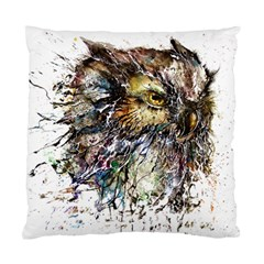 Angry And Colourful Owl T Shirt Standard Cushion Case (two Sides) by AmeeaDesign
