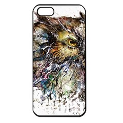 Angry And Colourful Owl T Shirt Apple Iphone 5 Seamless Case (black) by AmeeaDesign