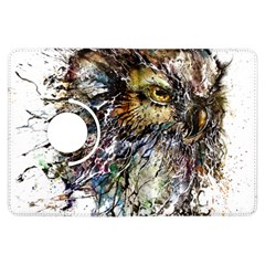 Angry And Colourful Owl T Shirt Kindle Fire Hdx Flip 360 Case by AmeeaDesign