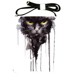Angry Cat T Shirt Shoulder Sling Bags by AmeeaDesign