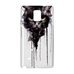 Angry Cat T Shirt Samsung Galaxy Note 4 Hardshell Case by AmeeaDesign