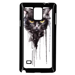 Angry Cat T Shirt Samsung Galaxy Note 4 Case (black) by AmeeaDesign