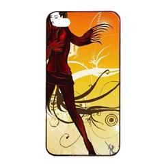 Girl Autumn Grass  Apple Iphone 4/4s Seamless Case (black) by amphoto