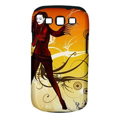 Girl Autumn Grass  Samsung Galaxy S Iii Classic Hardshell Case (pc+silicone) by amphoto