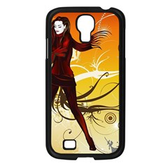 Girl Autumn Grass  Samsung Galaxy S4 I9500/ I9505 Case (black) by amphoto