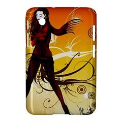 Girl Autumn Grass  Samsung Galaxy Tab 2 (7 ) P3100 Hardshell Case  by amphoto